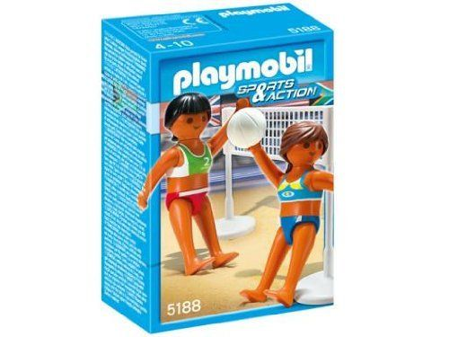 Playmobil Beach Volleyball with Net by Playmobil. Save 34 Off!. $4.99. CHOKING HAZARD - Toy contains a small ball. Not for children under 3 yrs.. Recommended Age: 4 - 10 years. Playmobil Beach Volleyball with Net - Spike the ball with the Beach Volleyball with Net. Set includes two figures, volleyball and net. Recommended for ages four to ten. Warning: Choking Hazard. Contains a small ball and small parts. Not for children under 3 years.The miniature worlds of Playmobil enco...