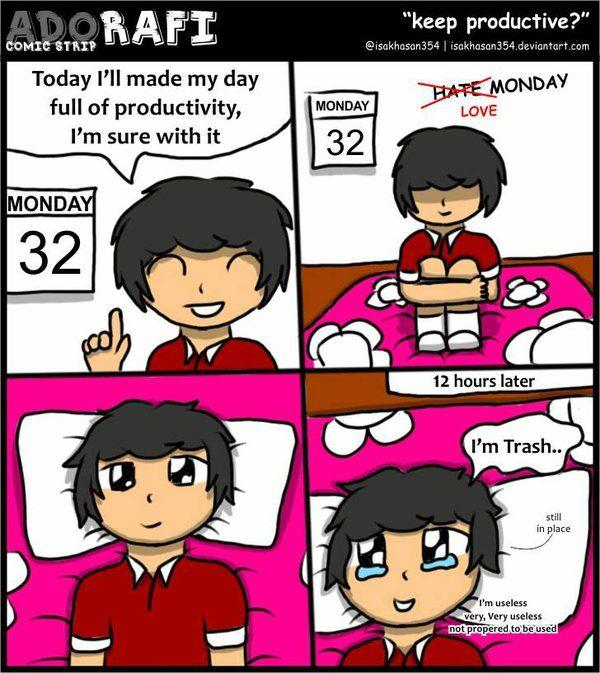 Keep Productive - Adorafi Comic Strip by isakhasan354