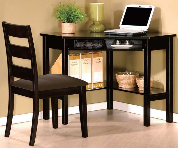 Benton black home office computer desks and chairs with