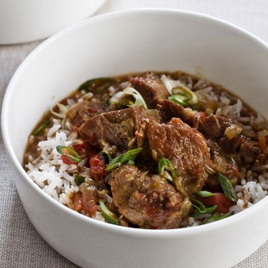 Slow Cooker Cocconut Pork Curry. Grace Parisi cooks pork shoulder with bold ingredients like fresh ginger, garlic, curry powder, cumin and turmeric. The flavors intensify and penetrat...