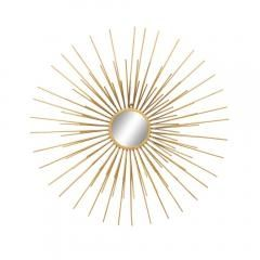 Golden Rays Sunburst Decorative Wall Mirror an Unusual Present For Her
