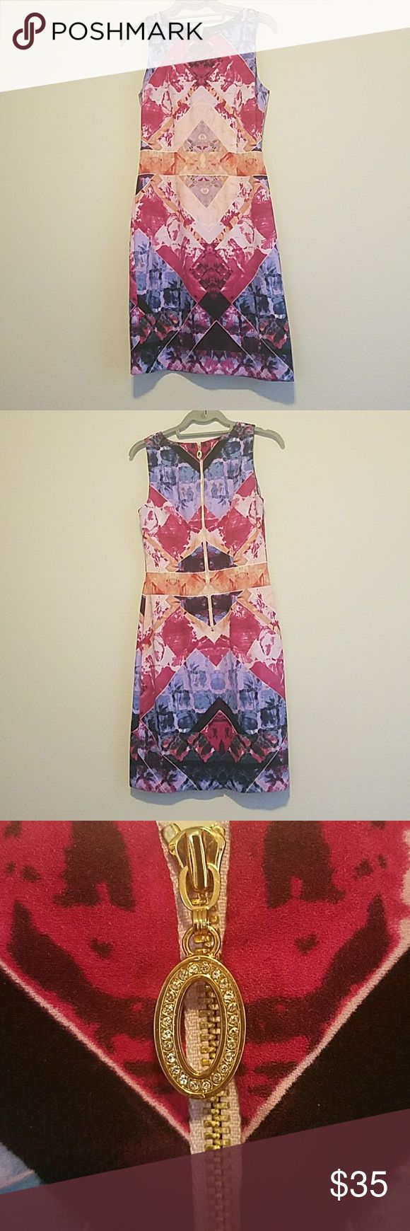 Ivanka Trump dress Colorful Ivanka Trump fitted dress. Purchased from Saks last year, and has only been worn a handful of times since! Ivanka Trump Dresses