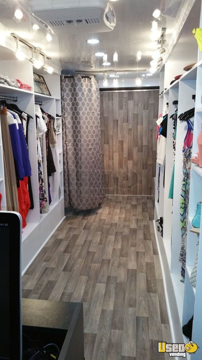 Mobile Fashion Boutique | Retail Trailer for Sale in North Carolina- this is a 2015 enclosed trailer that is set up as a mobile fashion boutique. Sale includes a 2013- F250 truck for hauling the trailer. Note, wrap and other trademarked items must be removed before ownership transfer. See details for features.