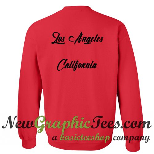 Los Angeles California Sweatshirt Back