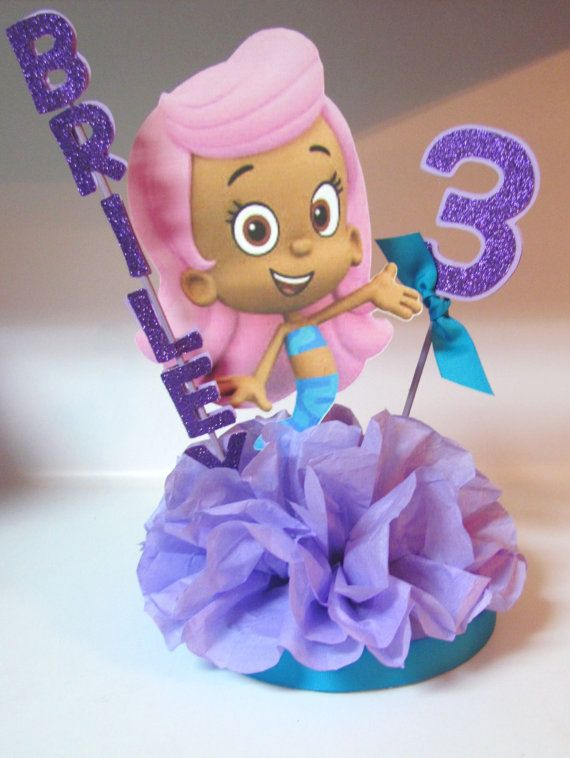 Bubble Guppies Birthday Party Centerpiece by KhloesKustomKreation