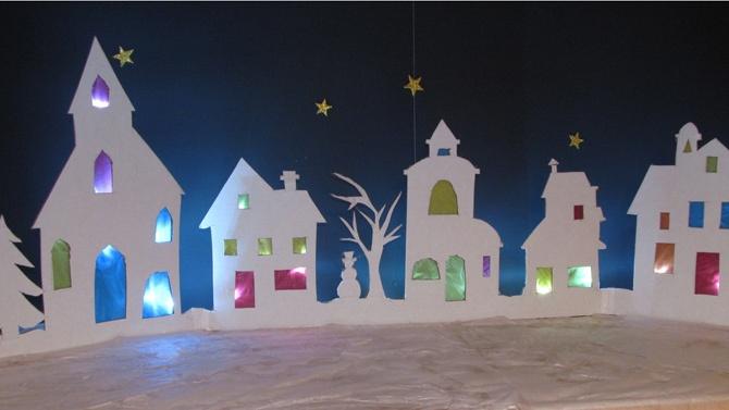Village illuminé, Noel, DIY