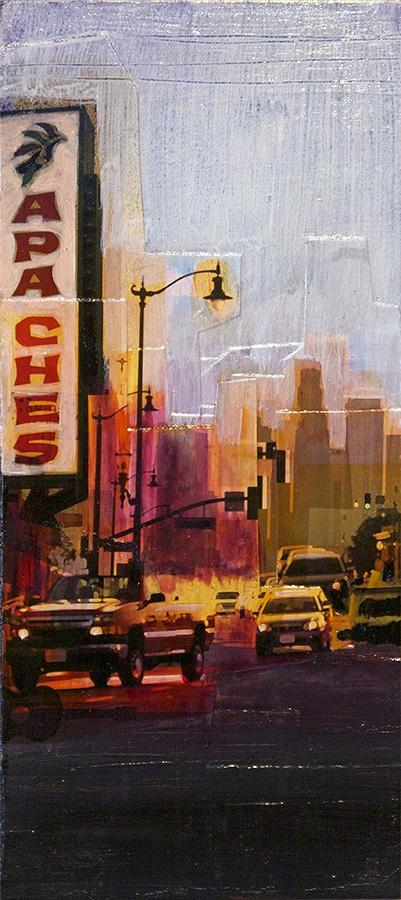 """""""Fragments 5"""" - Jon Measures - Mixed media, 6.75"""" x15"""" - $200"""