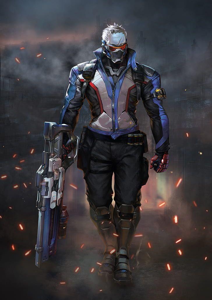 Hd Wallpaper Overwatch Soldier 76 Overwatch Wallpaper Flare Overwatch Wallpapers Overwatch Overwatch Fan Art