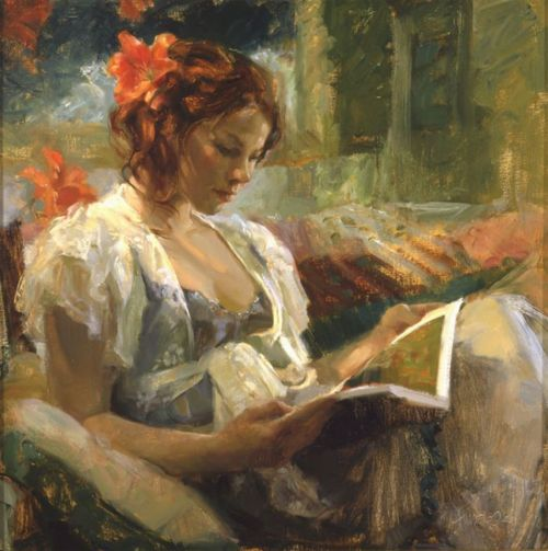 Johanna Harmon Art, posters and prints of a woman or women reading repinned by www.AboutHarry.com