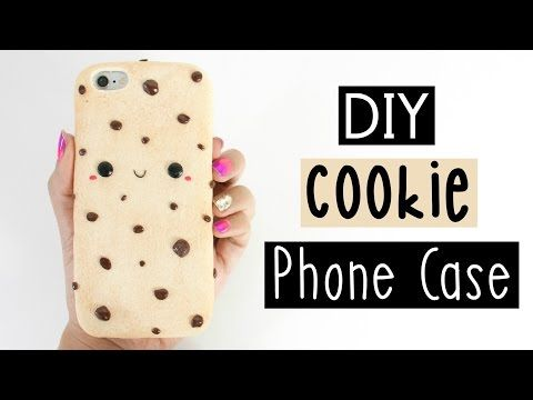 DIY CHOCOLATE CHIP COOKIE PHONE CASE! - YouTube. Silicon phone case