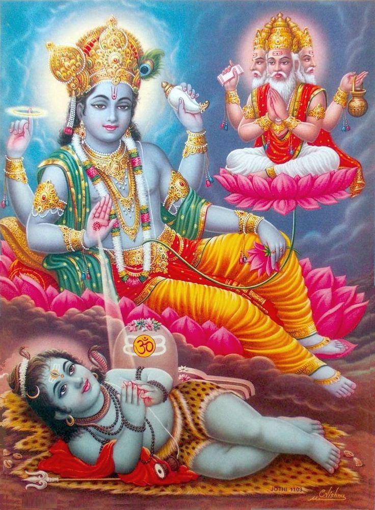 Baby Lord Shiva, Vishnu, Brahma