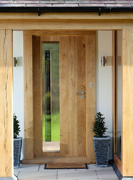 contemporary oak door with glass