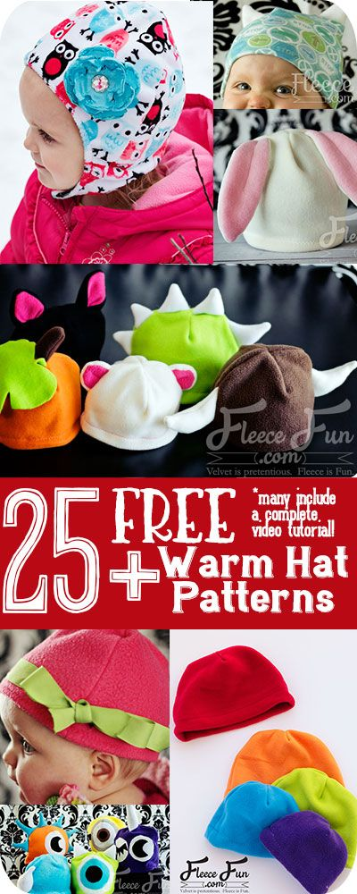 I love how many free fleece hat tutorials she has on her site! So many great sewing DIY ideas with easy to follow instructions.