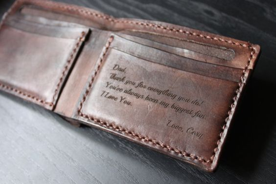 Mens Leather Wallet / Personalized Leather Wallet / Handmade Leather Wallet /Perfect gift for him / VD 0034