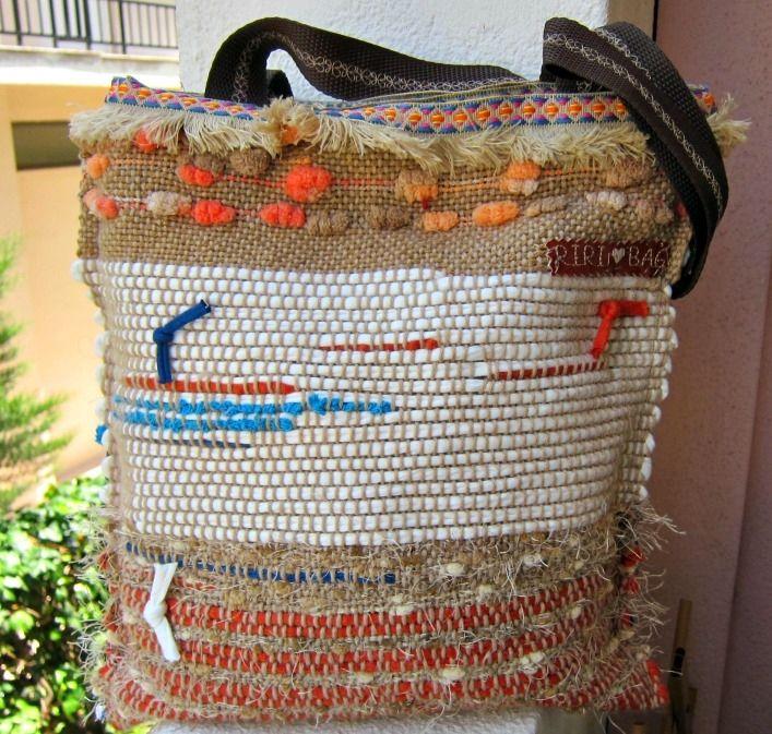Χειροποίητη Υφαντή boho  τσάντα - RiRi Yfasma (RiRiYfasma.gr)