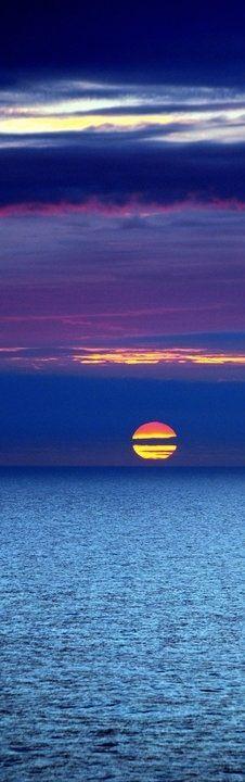 Sunset. North Sea. Netherlands.