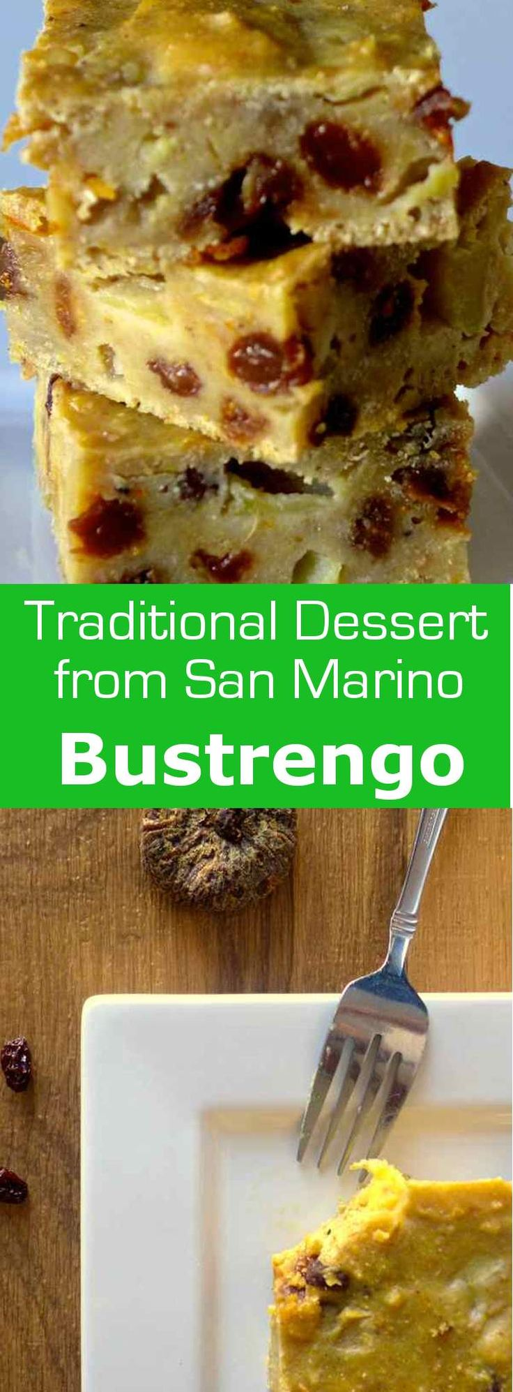 Bustrengo is a fruit cake from San Marino as well as Bologna that is eaten year-round but it is also a traditional Christmas cake. #dessert #christmas #SanMarino #196flavors