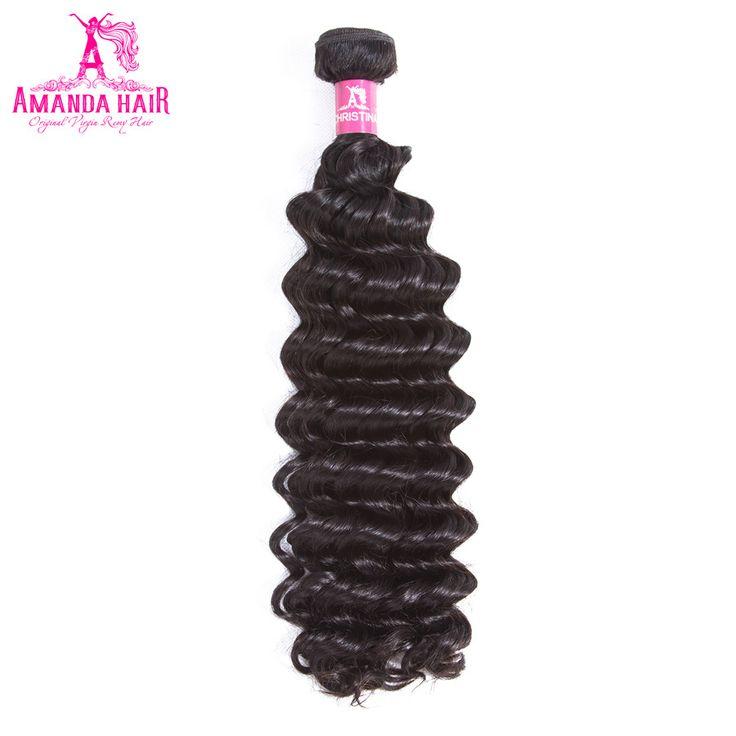 Amanda Brazilian Deep Wave Human Hair 2 Bundles Double Weft Hair Extension Remy Hair 8-28 Inch