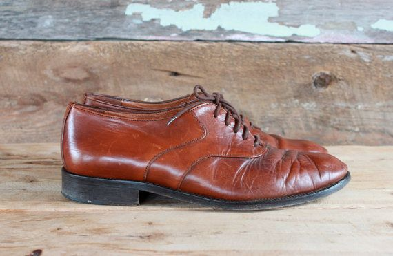 men's brown leather shoes by Bellini Italy / by FancyLuckyVintage