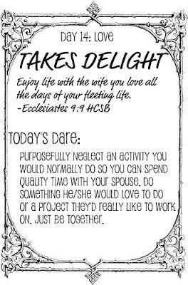 Taush.O: The Love Dare, Day 14