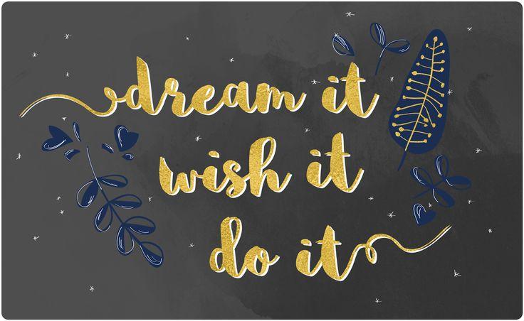 Plotterfreebie *dream it, wish it, do it* lillestoff