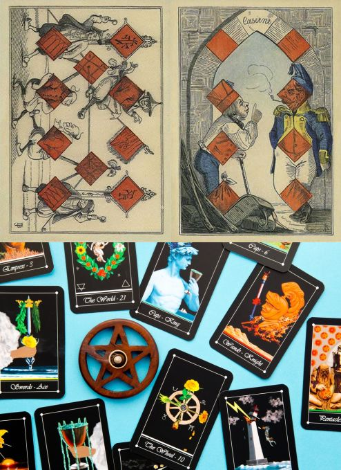 plastic playing cards online shopping, fun design playing cards and best poker cards to buy, playing card collection and playing cards design. New oracles eye and rituals witchcraft. #empress #halloween #halloweencostume #android
