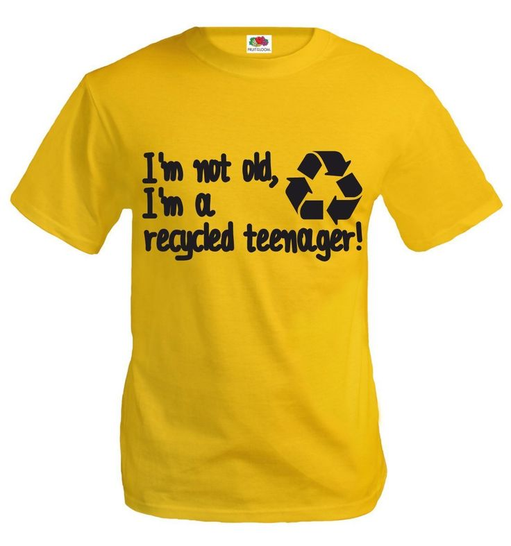 buXsbaum T-Shirt I am not old, I am a recycled teenager!-
