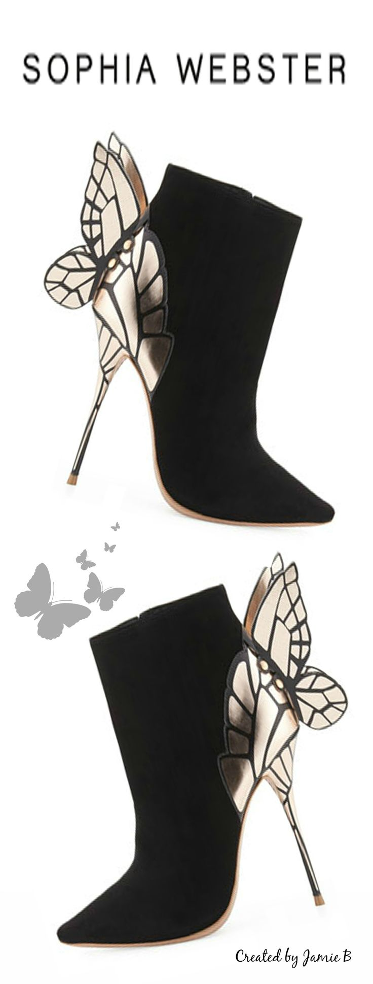 Pre Fall 2015 Sophia Webster | Chiara 3D Butterfly Wing Boot, Black | House of Beccaria~