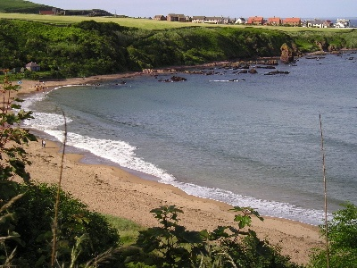 Coldingham Sands in the Scottish Borders