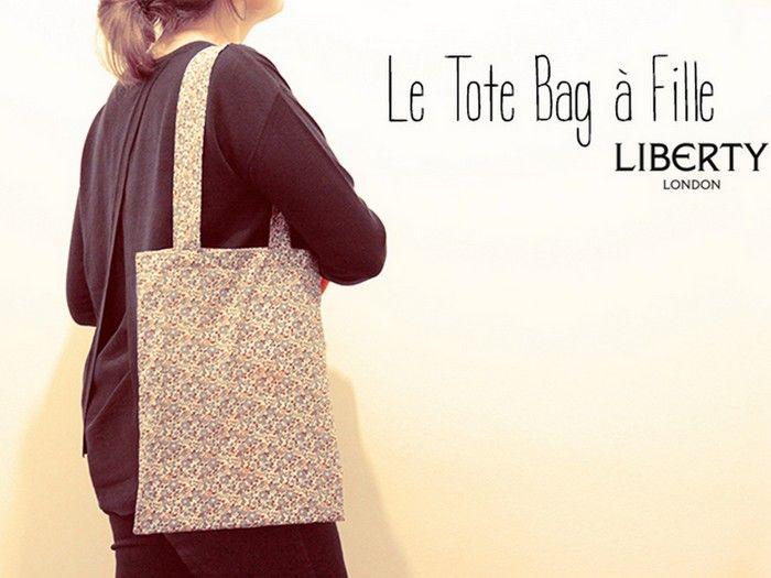 mon tote bag fille en liberty betsy patron tir du livre apprendre la couture avec. Black Bedroom Furniture Sets. Home Design Ideas