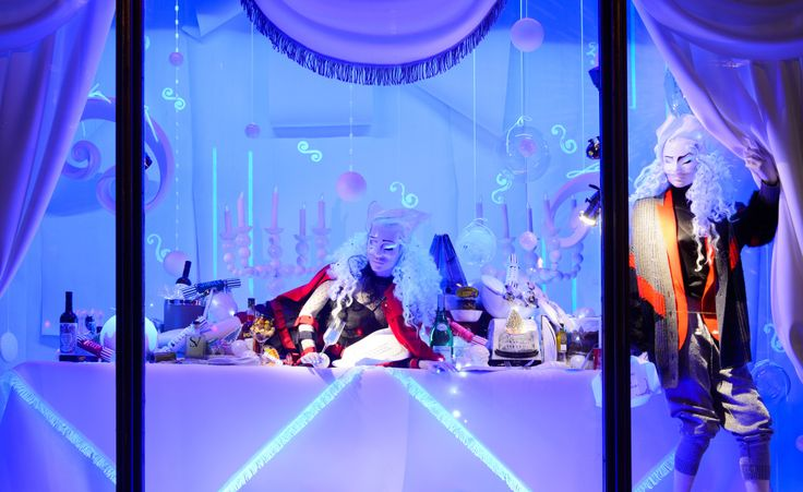 The holiday windows at Harvey Nichols 2016