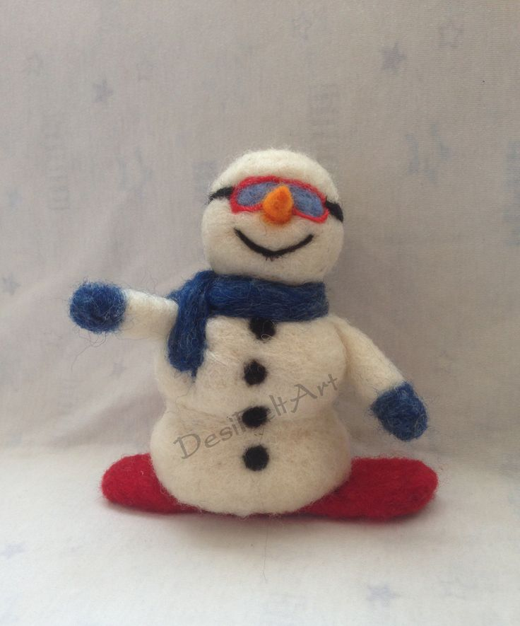 Snowman (needle felted)