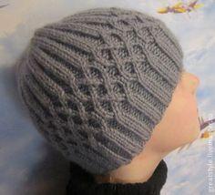 Шапка вязаная для мальчика - серый,шапка,шапка вязаная,шапка для мальчика