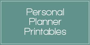 personal planner printables, including weekly, monthly, daily and yearly planner pages.