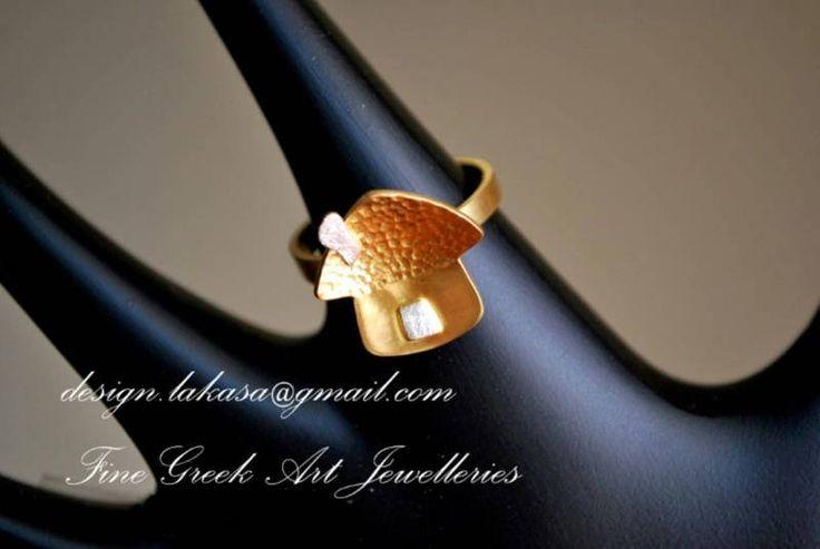 Sweet Home Ring Sterling Silver Gold plated Lakasa eShop Jewelry Nostalgy art grateful hope love Princess Gifts for her birthday best ideas #sweet #home #nostalgy #art #hope #love #ring #jewelry #joyas #mujer #woman #moda #silver #jewellery #bestideasgifts #forher #anniversary #birthdaygifts #mylittleprincess #princess #princessjewellery #birthday #δαχτυλιδι #mother #day #μητερα #γιορτη #ευγνωμοσύνη #ελπιδα #καλοτυχια #συμβολο