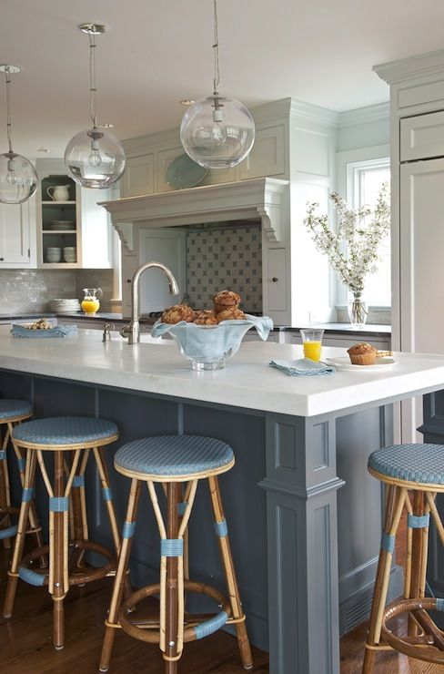 Blue Kitchen Island Transitional kitchen Kerry Hanson  : 12e48121e119b8f8906238b87921e069 from pinterest.com size 488 x 740 jpeg 58kB