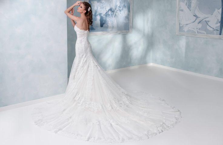 314003A - Una coda mozzafiato per questo #abitodasposa in #pizzo firmato #toispose.  Long train for this #weddinggown from #toispose.