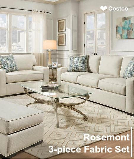 The Rosemont 3 Piece Fabric Set Is Handcrafted Here In The