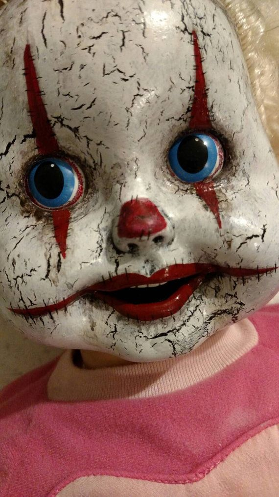 Cricket the Clown~ talking doll her mouth and eyes move creepy clown doll
