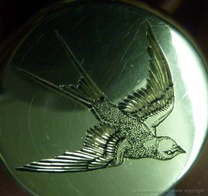 hand engraved flask lid 20mm