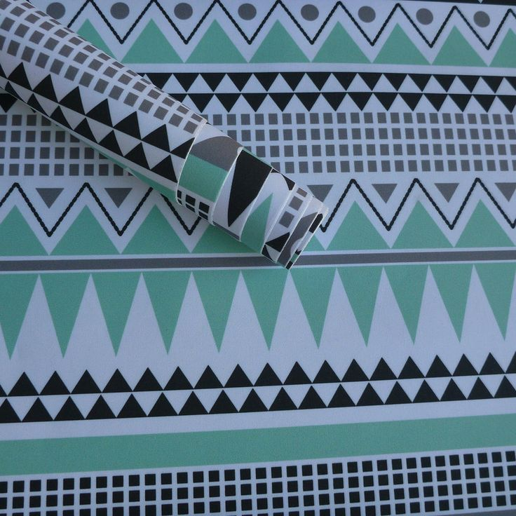 Tecido Adesivo - Asteca verde