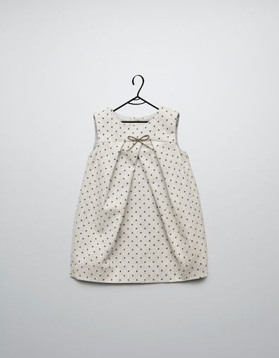mini dot dress at Zara