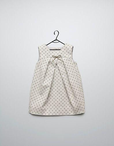 mini dot dress at Zara