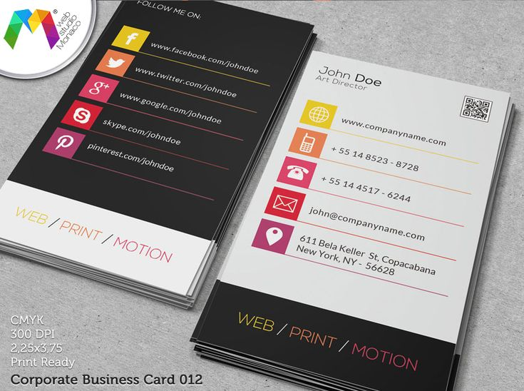 Corporate Business Card   Business Card Design by Web Studio ...