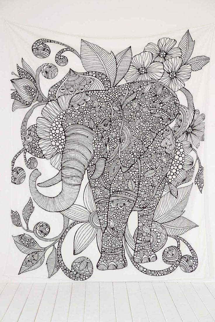 Valentina Harper Ruby The Elephant Tapestry