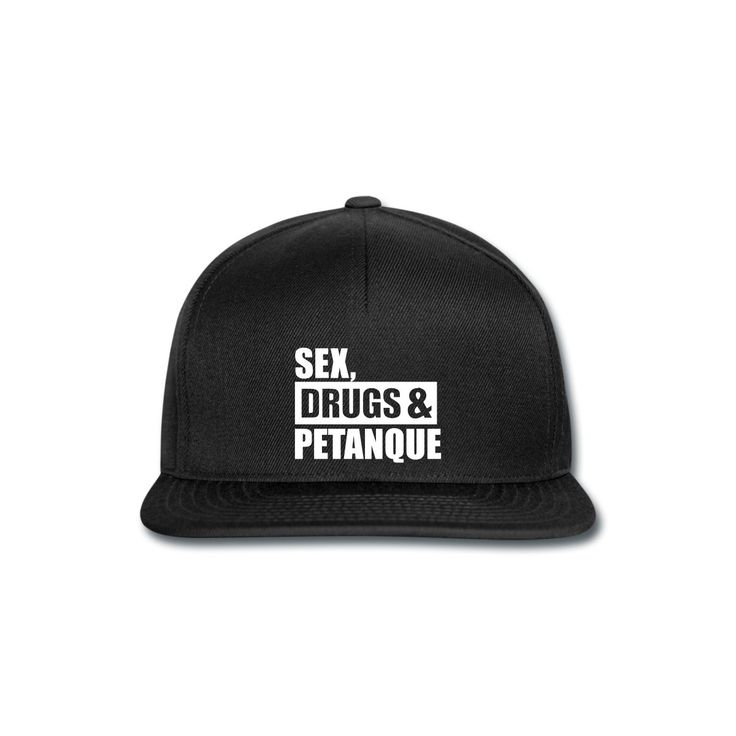 """Snapback Cap by Beechfield - Casquette snapback - Collection """"Sex, Drugs & Pétanque"""" #extremeboules #pétanqueextrème #streetpetanque #urbanpetanque #extremebocce #petanque #petanca #jeuxdeboules #boules #bocce #bocceball #beautiful #fashion #pretty #fashionstyle #street #shirt #shopping #styleoftheday #comfortable #outfitideas #outfit #trendystyle #inspiration #unique #menswear #clothes #outfitoftheday #mensfashion #shop #boutique #beauty #streetstyle #streetwear #streetwearfashion #black"""
