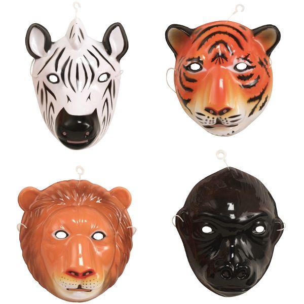 Party Time Celebrations  - Animal Party Masks Pack 4, $9.95 (http://www.partytimecelebrations.com.au/animal-party-masks-pack-4/)
