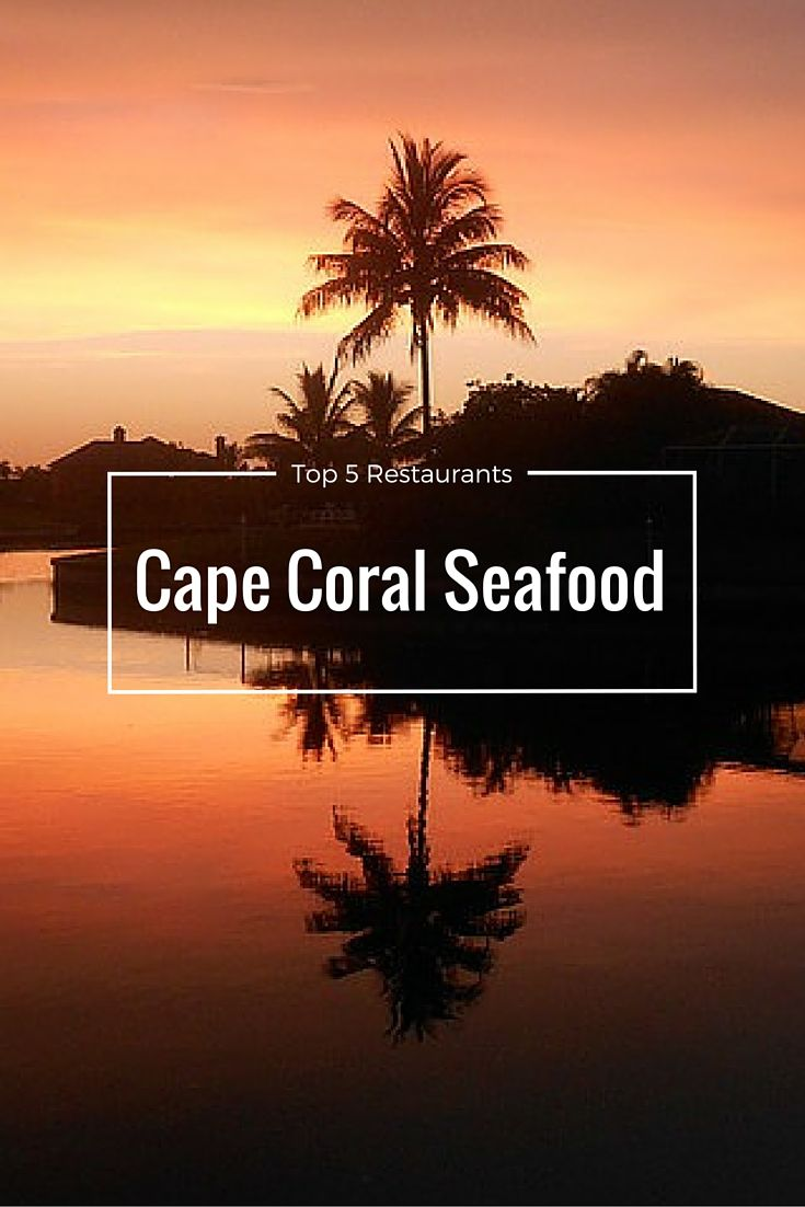 Top 5 Cape Coral Seafood Restaurants! You'll find fresh foods and diverse flavors. Plan to try all five on your vacation! #food #Florida