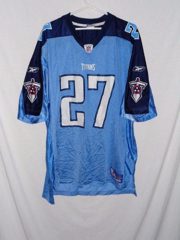eb5abcd5d24 ... Eddie George mens size XL Tennessee Titans blue jersey Reebok Reebok TennesseeTitans  NFL Pinterest Tennessee titans ...