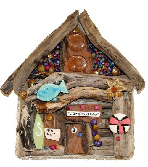beach hut by Karen Watson